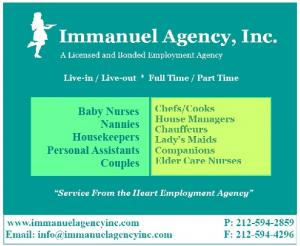 Immanuel Agency, Inc. - Offering nanny, babysitter, and caregiver services